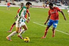 CORDOBA, SPAIN - JANUARY 13:Fede Vico W(29) in action during match league Cordoba(W) vs Numancia (R)(1-0) Stock Photo