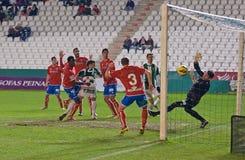 CORDOBA, SPAIN - JANUARY 13: Lopez Garai W(14) in action during match league Cordoba(W) vs Numancia (R)(1-0) Stock Photography