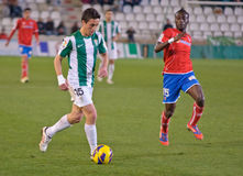 CORDOBA, SPAIN - JANUARY 13:Pedro S�nchez W(15) in action during match league Cordoba(W) vs Numancia (R)(1-0) Stock Image