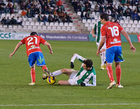 CORDOBA, SPAIN - JANUARY 13:Vincenzo Rennella W(12) in action during match league Cordoba(W) vs Numancia (R)(1-0) Stock Photo