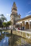 CORDOBA - SPAIN - JUNE 10, 2016 :The bell tower at the Mezquita Stock Image
