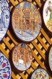 CORDOBA - SPAIN - JUNE 10, 2016 :Colorful ceramic spanish plates Royalty Free Stock Photo