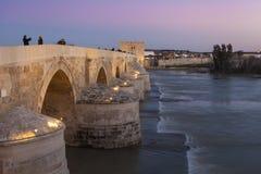 CORDOBA - SPAIN - JUNE 10, 2016 : Roman Bridge on Guadalquivir r Royalty Free Stock Photos