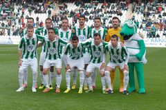 CORDOBA, SPAIN - MARCH 29:  Initial alignment Cordoba CF during match league Cordoba (W) vs Murcia (R)(1-1) Stock Photos