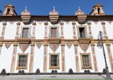 CORDOBA, SPAIN - MAY 27, 2015: The baroque facade of Convento de la Merced monastery 1716 - 1745 Stock Photos