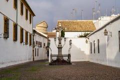 Cordoba, Spain - November 02, 2019: Capuchinos Square, Plaza de Capuchinos