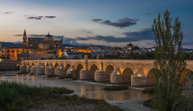 Cordoba, Spain. Puente Romano de Córdoba, Mezquita de Córdoba Stock Photo