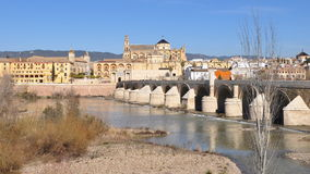 Cordoba,Spain. Roman bridge, built in the early 1st century BC across the Guadalquivir river in the Historic centre of Cordoba, Andalusia, southern Spain royalty free stock photos