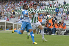 CORDOBA, SPAIN - SEPTEMBER 29:  Abel  G�mez W(23) in action during match league Cordoba (W) vs Girona (B)(2-0) Stock Photography