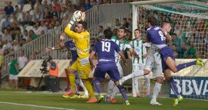 CORDOBA, SPAIN - SEPTEMBER 28: Juan Carlos Y(1) in action during match league Stock Photos
