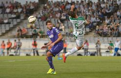 CORDOBA, SPAIN - SEPTEMBER 28:  Luso W(6) in action during match league Royalty Free Stock Photography