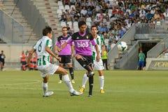 CORDOBA, SPANIEN - 18. AUGUST:  Luis Eduardo W (6) in der Aktion während der Matchliga Cordoba (W) gegen Ponferradina (b) (1-0) be Stockbilder