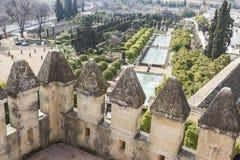 CORDOBA - SPANIEN - 10. JUNI 2016: Ansicht von Alcazar und von Kathedrale M Stockfotos