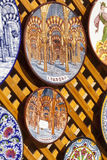 CORDOBA - SPANIEN - JUNI 10, 2016: Färgrika keramiska spanjorplattor Royaltyfri Foto