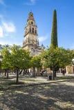 CORDOBA - SPANIEN - 10. JUNI 2016: Schleppseil Old Torre Del Alminar Bell Stockfoto
