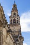 CORDOBA - SPANIEN - 10. JUNI 2016: Schleppseil Old Torre Del Alminar Bell Lizenzfreie Stockbilder