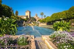 Cordoba, Spanien-März 11,2015: Der berühmte Alcazar mit schönem GA Lizenzfreie Stockbilder