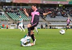 CORDOBA, SPANIEN - 30. MÄRZ: Eneko Fernandez B (11) in der Aktion während der Matchliga Cordoba (W) gegen Sabadell (b) (3-0) Lizenzfreie Stockfotos
