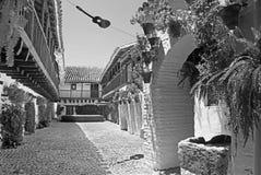CORDOBA SPANIEN - MAJ 26, 2015: Gårdpacioen av Centro de Flamenco Fosforito eller Musuem av flamenco Royaltyfri Fotografi