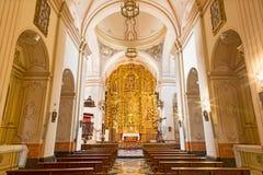 CORDOBA SPANIEN - MAJ 26, 2015: Skeppet av kyrkan av kloster av St Ann och stJoseph Convento de Santa Ana y San Jose fotografering för bildbyråer