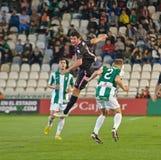 CORDOBA SPANIEN - MARS 30: Eneko Fernandez B (11) i handling under matchligan Cordoba (W) vs Sabadell (B) (3-0) Royaltyfri Foto