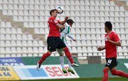 CORDOBA SPANIEN - MARS 29:  Lopez Silva W (19) i handling under matchligan Cordoba (W) vs Murcia (R) (1-1) på den kommunala Stadie Arkivbilder