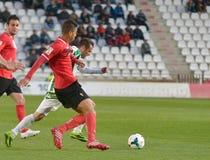 CORDOBA SPANIEN - MARS 29:  Lopez Silva W (19) i handling under matchligan Cordoba (W) vs Murcia (R) (1-1) på den kommunala Stadie Royaltyfria Bilder