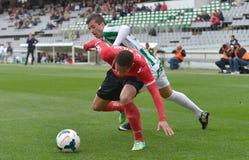 CORDOBA SPANIEN - MARS 29:  Pinillos W (29) i handling under matchligan Cordoba (W) vs Murcia (R) (1-1) på den kommunala stadion Royaltyfri Bild