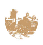 Cordoba Spanje Andalusia stock illustratie