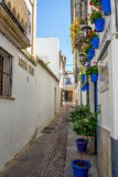 Cordoba, Spanje - Juni 20: De lege straten van Cordoba op Juni Royalty-vrije Stock Fotografie