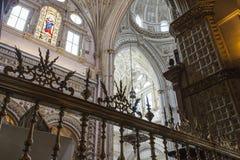 CORDOBA - SPANJE - JUNI 10, 2016: Koepel M van het kathedraal de Witte Plafond Royalty-vrije Stock Afbeeldingen