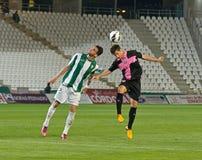 CORDOBA, SPANJE - MAART 30: Vincenzo Rennella W (12) in actie tijdens gelijkeliga Cordoba (W) versus Sabadell (b) (3-0) Royalty-vrije Stock Foto