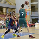 CORDOBA, SPANJE - SEPTEMBER 14: ONDREJ BALVIN G (12) in actie tijdens gelijke FC Barcelona (b) versus CITIZENS BAND Sevilla (G) ( Stock Afbeeldingen