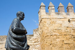 Cordoba - The statue of philosopher Lucius Annaeus Seneca the Younger by Amadeo Ruiz Olmos Royalty Free Stock Photo