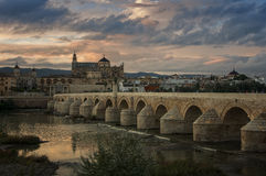 Cordoba at sunset Stock Photos