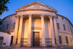 Cordoba - The Church Iglesia De Santa Victtoria At Dusk Stock Photography