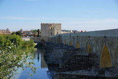 Cordoba. Tower bridge in Andalusia from Spain Stock Photography