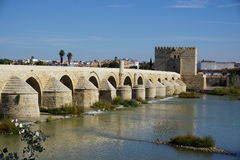 Cordoba. Tower bridge in Andalusia from Spain Royalty Free Stock Image