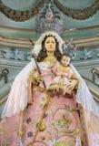 Cordoba - The traditional vested statue of Madonna in Church Eremita de Nuestra Senora del Socorro Stock Photography