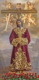 Cordoba - The typically statue of vested Christ  in bond in church Convento de Capuchinos (Iglesia Santo Angel). Royalty Free Stock Images