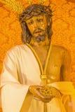 Cordoba - The typically statue of vestet Jesus Christ  in church Convento de Capuchinos (Iglesia Santo Angel). Royalty Free Stock Image
