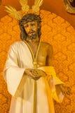 Cordoba - The typically statue of vestet (Jesus Christ Nuestro Padre de la Humildad) in church Convento de Capuchinos Royalty Free Stock Image