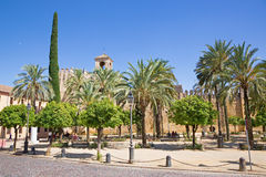 Cordoba - The walls of palace Alcazar de los Reyes Cristianos. Stock Images