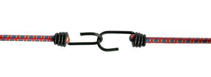 Cordon élastique avec des crochets photo libre de droits
