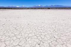 Cordon avec la prise de masse sèche et criquée Pampa d'EL Leoncito image stock