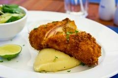 Cordon bleu de poulet Photos stock