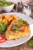 Cordon bleu with fries Royalty Free Stock Photos