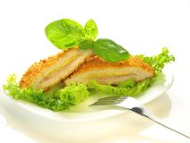 Cordon bleu, isolated Stock Image