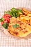Cordon bleu mit Fischrogen Lizenzfreie Stockbilder