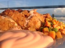 Cordon Bleu at Sunset Stock Photo